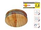 Optischer Rauchmelder in hochwertiger Holzoptik mit 1 Jahres Batterie