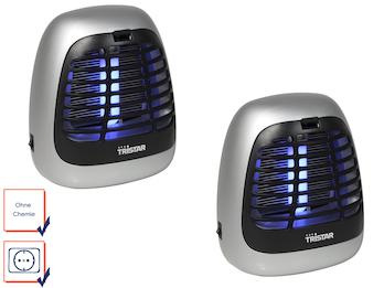 Insektenvernichter mit 7 UV-Lampe für je 25 m² im 2er Set ideal fürs Camping