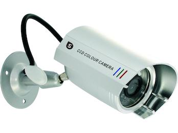 Wettergeschützte Kamera-Attrappe, Aluminiumgehäuse, inkl. Montagematerial
