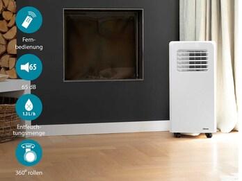 Klimagerät 10500 BTU / 3,0 KW, mit Timer & Fernbedienung, Energieklasse A, 65dB