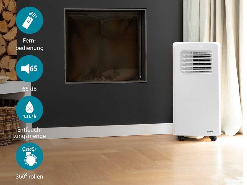 Mobile Klimaanlage mit Timer & Fernbedienung Monoblock Klimagerät - 3,0KW 65dB