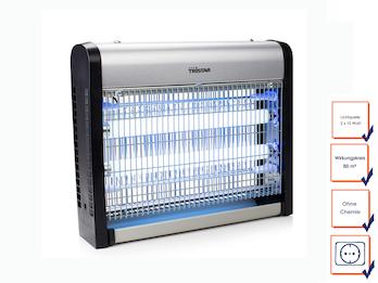 Insektenvernichter mit UV-Lampe Wirkungskreis 80qm 2x 10 Watt UV