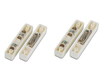 2er Set Magnetkontakt für Fenster und Türen,  6,7 x 1,3 x 1,2 cm, Einbruchschutz