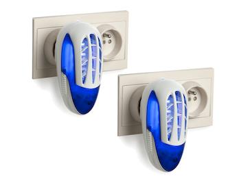 UV Insektenvernichter für die Steckdose im 2er Set , 800 V, mit Reinigungsbürste