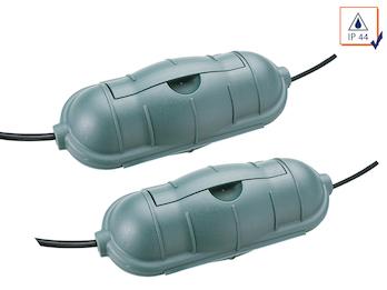 2er-Set Outdoor Sicherheitsboxen / Safe-Box grün für Kabelsteckverbindungen IP44