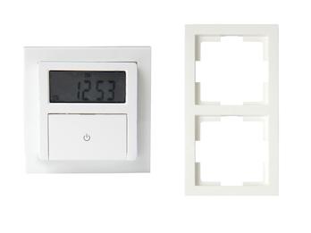Digitale Unterputz Zeitschaltuhr inkl. Doppelrahmen ca. 140 Schaltungen / Woche