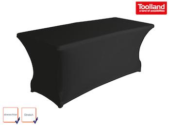 Hochwertige und pflegeleichte Tischhusse Tischüberzug - schwarz abwaschbar