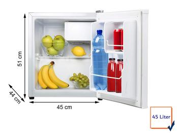 Kleiner MINI Kühlschrank 45 Liter mit Gefrierfach ideal fürs Camping