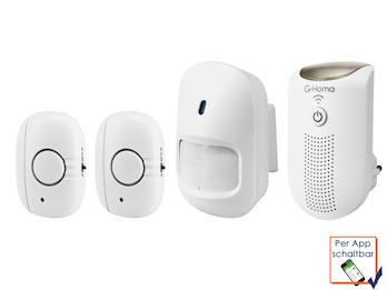 4tlg. Mini Alarmsystem / Hausalarm mit App Steuerung für IOS und Android