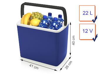 Thermoelektrische Kühlbox OSLO in blau, mit 22 Liter Fassungsvermögen, 12Volt
