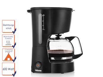 Kompakte Kaffeemaschine geeignet für 6 Tassen und einer Leistung von 600 Watt