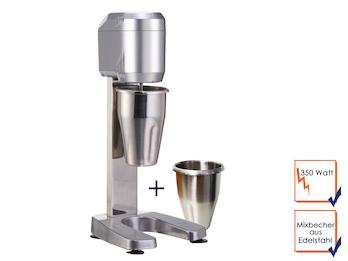 Profi Mixer-Barmixer, 350 Watt, 2 x Mixbecher aus Edelstahl 900ml