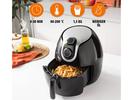 Heißluftfritteuse XXL Umluft Crispy Fryer, Frittieren ohne Öl, 5,2 Ltr. 1800Watt