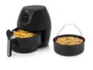 Digitale XXL Heißluftfritteuse & Backform, frittieren ohne Öl 5,2Ltr 1700 Watt