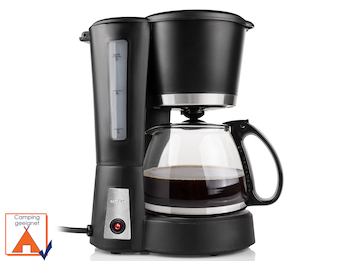 Stilvolle Kaffeemaschine für 6 Tassen Kaffee inklusive 0,6 L Glaskanne