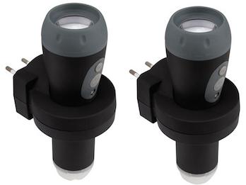 2er Set Taschenlampen wiederaufladbar, auch als Nachtlicht / Notlicht verwendbar