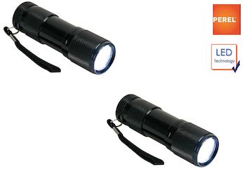 2er Set wetterfeste und stoßfeste Taschenlampen mit Hülle, extra helle LEDs