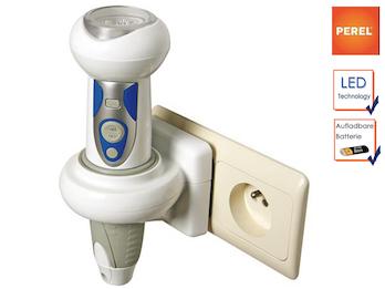Wiederaufladbare LED Taschenlampe mit Nachtlicht und SOS Funktion