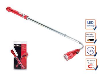 Flexible LED Taschenlampe mit Magnetheber und ausziehbarer Teleskopstange