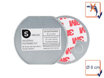 Befestigungs-Set Universal-Magnetmontageplatte Ø 6cm für Rauchmelder