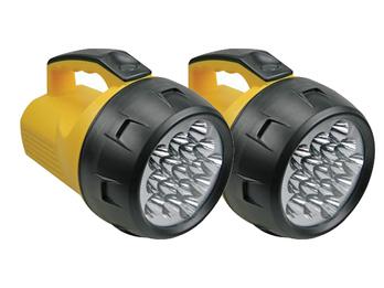 2er Set leistungsstarke Handscheinwerfer, LEDs hell, wetterfeste Arbeitsleuchten