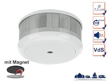 Mini 10-Jahres Rauchwarnmelder + Magnet-Set mit VDS & DIN EN14604