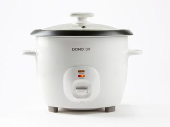 Kompakter 1,3 Liter Reiskocher inklusive Messbecher, Kelle und Dampfkorb