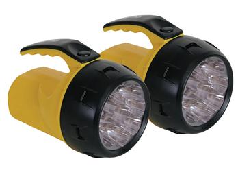 2er Set Handscheinwerfer mit hellen LEDs, wetterfeste Arbeitsleuchten
