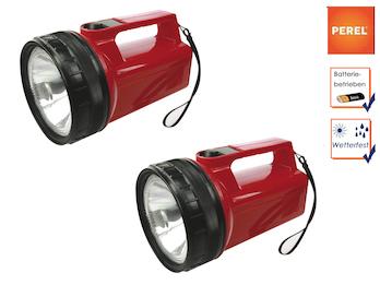 2er Set wetterfeste Krypton Taschenlampen / Handlampen, ultraheller Lichtstrahl