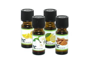 Hochwertiges Duftöl Set mit 4 Düften - Zitrone, Orange, Jasmin, Zimt; je 10ml