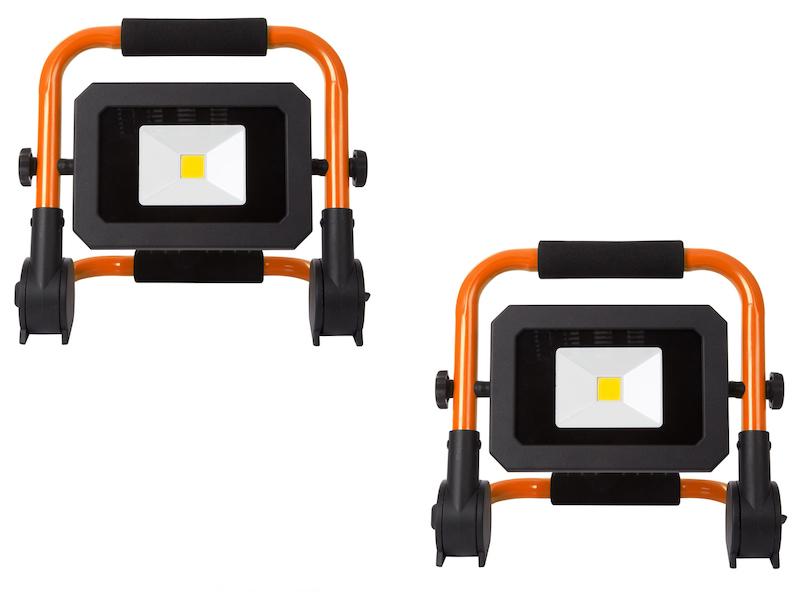 LED Akkubaustrahler 20W klappbar Arbeitsscheinwerfer Arbeitslampe für Baustelle