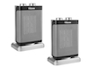 Elektroheizung im 2er Set Ventilator-Funktion 3 Leistungsstufen Heizlüfter