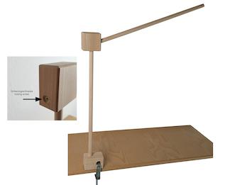 Mobilehalter Holz - 100 % Naturprodukt - mit Sicherungsschraube