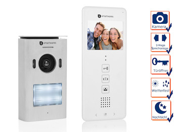 1 Familienhaus Türsprechanlage mit Kamera, Gegensprechanlage 2Wege Kommunikation