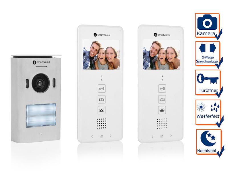 Zweiparteien Türsprechanlage mit Kamera, Gegensprechanlage 2Wege Kommunikation