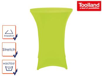 Stabiler Stehtisch /Klapptisch als Komplettset mit grüner Stretch Husse