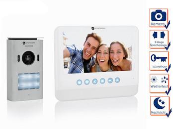 2 Draht Video Gegensprechanlage 1 Familienhaus mit Kamera & 7 Zoll Bildschirm