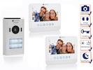 Zweiparteien Türsprechanlage 2 Draht mit Kamera und 7 Zoll LCD Bildschirmen