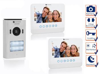 2 Draht Video Gegensprechanlage 2 Familienhaus mit Kamera & 7 Zoll Bildschirm