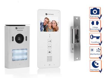 Türsprechanlage für Einfamilienhaus mit Kamera und Türöffner
