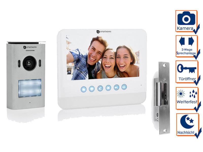 Einparteien Video Türsprechanlage Gegensprechanlage mit Kamera Einfamilienhaus