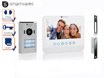 """Einfamilienhaus Videosprechanlage 7"""" Bildschirm + Öffner für weitöffnende Türen"""