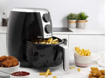Heißluftfritteuse Crispy Fryer für 4 Portionen - ohne Öl, 3,5 Liter, 1500 Watt