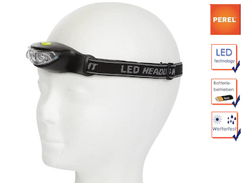 Sportliche LED Stirnlampe extra hell für Wandern, Trekking, Camping, Outdoor