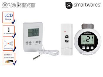 Komfort-Set: Programmierbarer Heizungsregler mit Fernbedienung und Thermometer