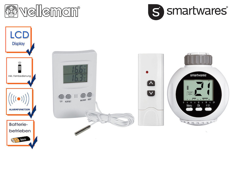Kühlgerät Thermometer FUNK Thermostat Temperatur Schalter Heizen Kühlen f