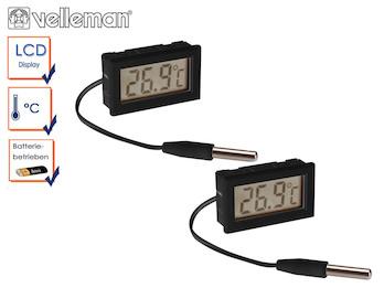 Kombi-Set digitale Einbauthermometer mit Temperaturfühler, Temperaturkontrolle