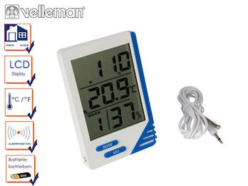 Digitalthermometer mit Hygrometer, Thermometer Innen / Außen / Innenfeuchte