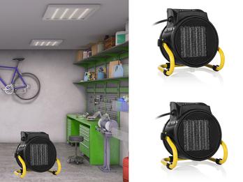 2er Set Elektroheizung (Keramik) mit Ventilator-Funktion 2000 Watt