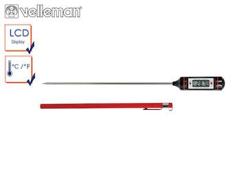 Digitales Küchenthermometer / Bratenthermometer mit 20cm Einstichsonde